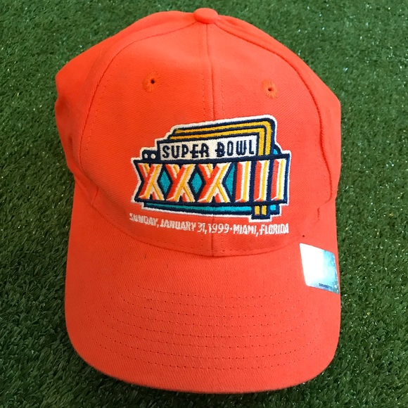 d2230079d NFL Super Bowl XXXIII 1999 Logo 7 Adjustable Hat